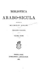 Biblioteca arabo-sicula: Volume 1