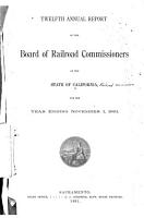 Annual Report of the Board of Railroad Commissioners of the State of California PDF