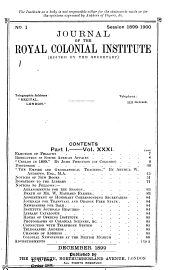 Journal of the Royal Colonial Institute: Volume 31