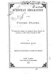 European Emigration to the United States