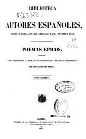 Poemas épicos: Volumen 1