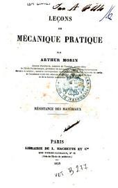 Leçons de mécanique pratique: Résistance des matériaux, Volume4