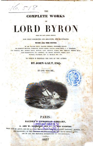 Download The Complete Works of Lord Byron from the Last London Edition Book
