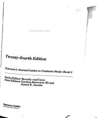 Peterson s Guide to Graduate Programs in the Biological and Agricultural Sciences 1990 PDF