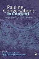 Pauline Conversations in Context
