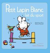 Petit lapin blanc fait du sport
