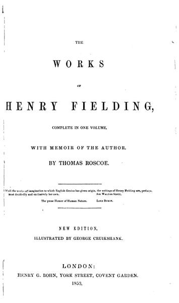 Download The Works of Henry Fielding  Complete in One Volume Book