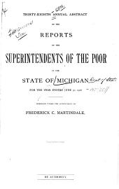 Annual Abstract of the Reports of the Superintendents of the Poor in the State of Michigan