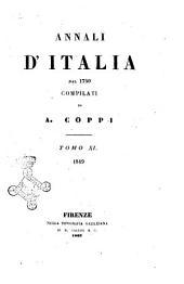 Annali d'Italia dal 1750 compilati da A. Coppi: 1849, Volume 11