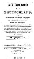 Bibliographie von Deutschland  oder w  chentliches vollst  ndiges Verzeichni   aller in Deutschland herauskommenden neuen B  cher  Musikalien und Kunstsachen  etc   PDF