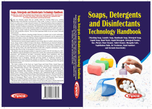 Soaps  Detergents and Disinfectants Technology Handbook  3rd Revised Edition  PDF