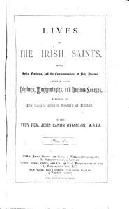 Lives of the Irish saints PDF