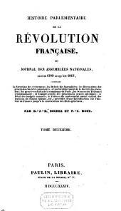 Histoire parlementaire de la Révolution française ou Journal des assemblées nationales depuis 1789 jusqu'en 1815