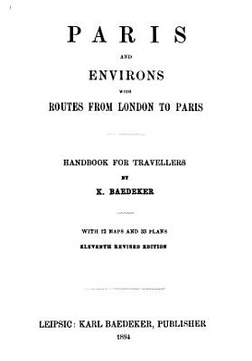 Paris and Environs  with Routes from London to Paris PDF