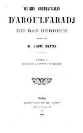 Oeuvres grammaticales: Contenant de K'tovo D'tsem'he info, Volume1