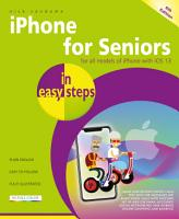 iPhone for Seniors in easy steps  6th edition   covers all iPhones with iOS 13 PDF