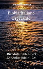 Bibbia Italiano Esperanto: Riveduta Bibbia 1924 - La Sankta Biblio 1926