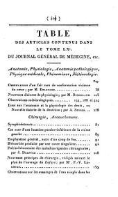 Journal général de médecine, de chirurgie et de pharmacie franc̜aises et étrangeres, ou, Recueil périodique de la Société de médecine de Paris: Volume60