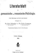 Literaturblatt für germanische und romanische Philologie: Band 6