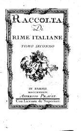 Raccolta Di Rime Italiane: Volume 2
