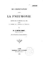 De l'expectation dans la pneumonie: rapport sur un mémoire de Fier