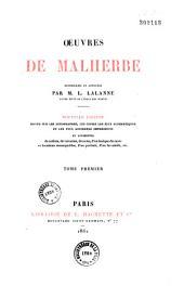 Oeuvres complètes de Malherbe: Volume1