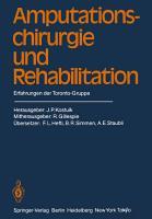 Amputationschirurgie und Rehabilitation PDF