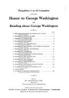 Honor to George Washington and Reading about George Washington PDF