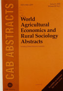 World Agricultural Economics and Rural Sociology Abstracts