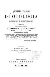 Archivio italiano di otologia, rinologia e laringologia: Volumi 3-4