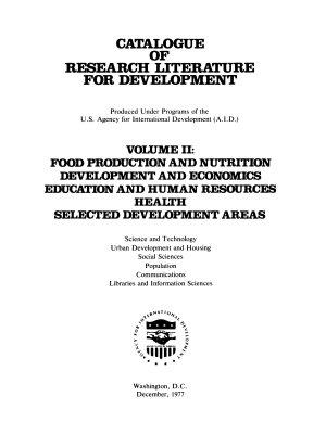 Catalogue of Research Literature for Development PDF