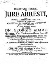 De jure arresti, resp. Chr. Seyffart