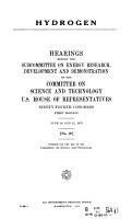 Hydrogen  Hearings Before the Subcommittee on Energy Research  Development and Demonstration of      94 1  June 10  12  1975 PDF