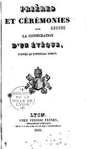 Prières et cérémonies pour la consécration d'un évèque