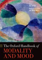 The Oxford Handbook of Modality and Mood PDF