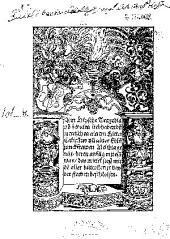 Ain Hipsche Tragedia vo zwaien liebhabendn mentschen ainem Ritter Calixstus vn ainer Edln junckfrawen Melibia genat ...