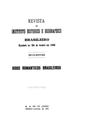 Revista do Instituto historico e geographico brasileiro     PDF