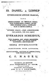 Etymologicum linguae graecae