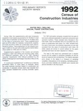 1992 Census of Construction Industries: Preliminary reports. Industry series. Excavation work, special trade contractors (industry 1794).