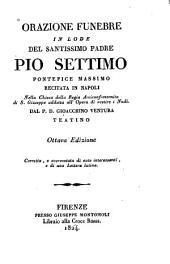 Orazione funebre in lode del Santissimo Padre Pio Settimo, Pontefice Massimo