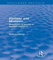 Fantasy and Mimesis  Routledge Revivals  PDF