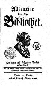 Allgemeine deutsche Bibliothek: Des neun und sechzigsten Bandes erstes Stück - Des neun und sechzigsten Bandes zweytes Stück, Band 69