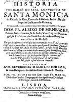 Historia da funda  a   do Real Convento de Santa Monica da Cidade de Goa PDF