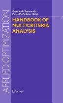 Handbook of Multicriteria Analysis