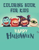 Coloring Book For Kids Happy Halloween