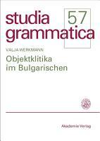 Objektklitika im Bulgarischen PDF