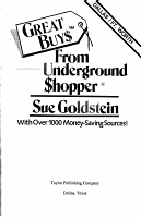 Great Buy  from the Underground  hopper PDF
