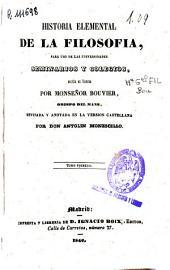 Historia elemental de la filosofía para uso de las universidades, seminarios y colegios: Volumen 2