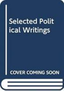 Download Selected Political Writings Book