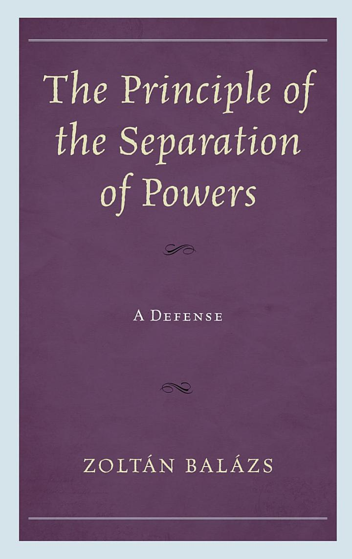 The Principle of the Separation of Powers